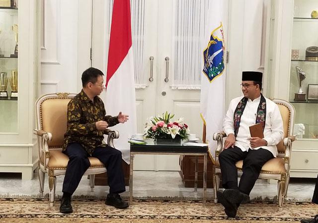 林博士於 印尼 與耶加達市長Annis Baswedan會面