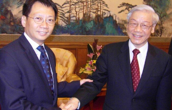 越共黨總書記阮富仲先生到訪北京,與林博士喜相逢