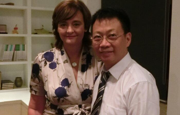 與好友Mrs. Cheri Blair 與香港亞洲協會再聚