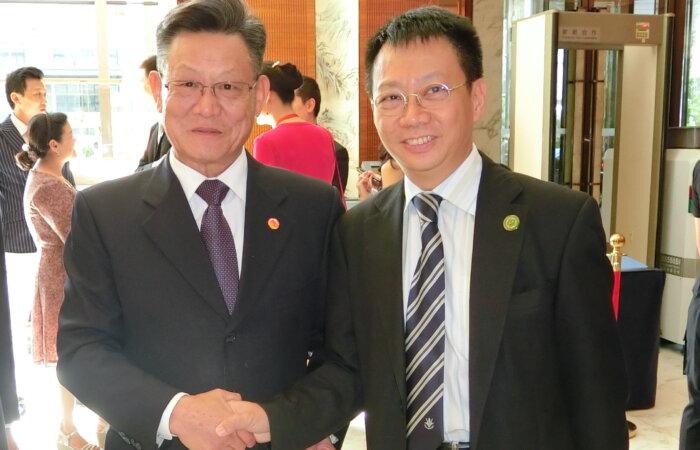 於北京與前聯合國秘書長沙祖康博士會面
