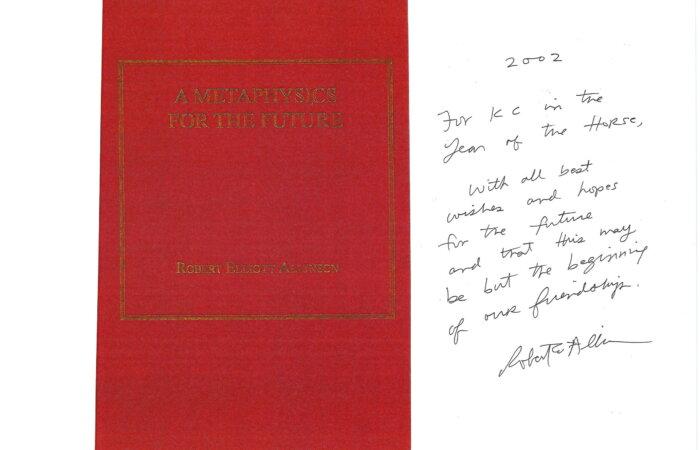 220 A Metaphysics For The Future – Robert Elliott Allinson