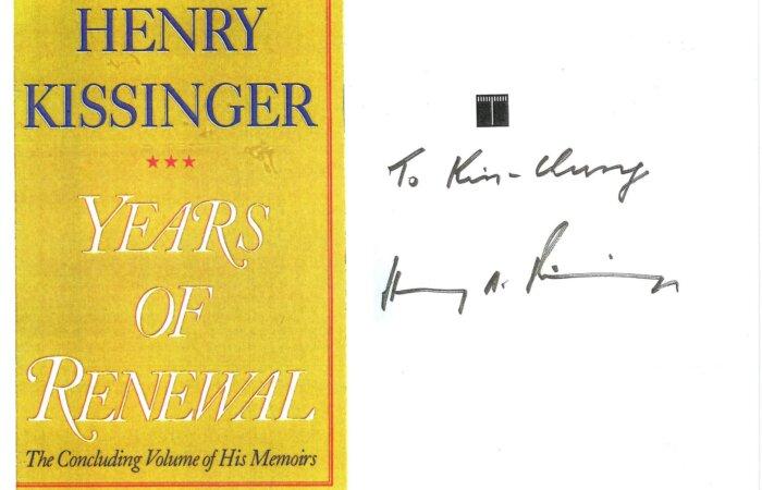 267 Years Of Renewal – Henry Kissinger