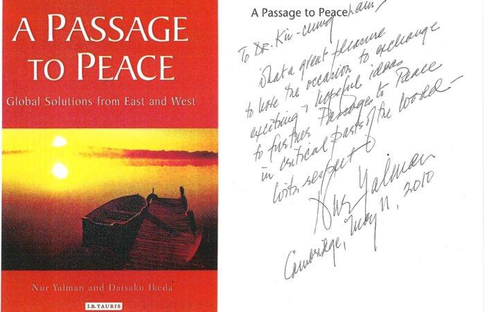 271 A Passage To Peace – Nur Yalman And Daisaku Ikeda