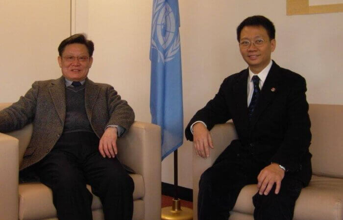 On 4 February 2011, Dr. Lam The Then Deputy Secratary Of UN Dr. Sha Chao Kang In New York UN Headquarter.